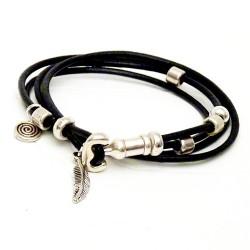 bracelet cuir femme fabrication artisanale de bracelet en cuir pour femme unza unza. Black Bedroom Furniture Sets. Home Design Ideas