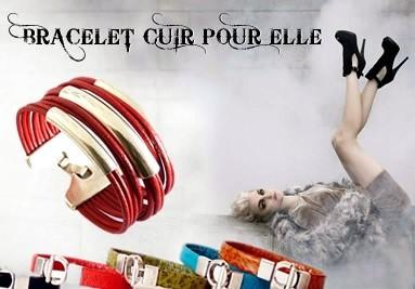 Bracelet cuir femme, créateur de bracelet en cuir femme rock punk tous stlyle de bracelet en cuir, f