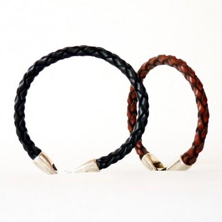 Bracelet en cuir véritable pour homme