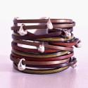 bracelet en cuir manchette et gouttes