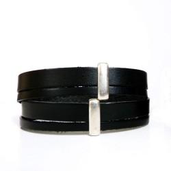 bracelet en cuir fermoir spirale